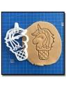 Glace Licorne 001 - Emporte-pièce pour pâtes à sucre et sablés sur le thème Licorne