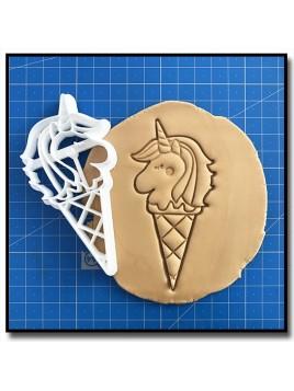 Glace Licorne 002 - Emporte-pièce pour pâtes à sucre et sablés sur le thème Licorne