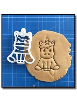 Licorne Bébé 001 - Emporte-pièce pour pâtes à sucre et sablés sur le thème Licorne