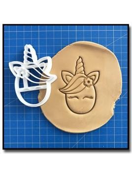 Licorne Visage 003 - Emporte-pièce pour pâtes à sucre et sablés sur le thème Licorne