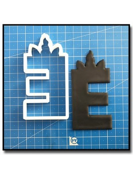 Licorne Typographie 202 - Emporte-pièce pour pâtes à sucre et sablés sur le thème Licorne