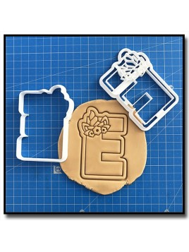 Licorne Typographie 001 - Emporte-pièce pour pâtes à sucre et sablés sur le thème Licorne