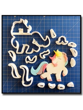 Licorne 102 - Emporte-pièce en Kit pour pâtes à sucre et sablés sur le thème Licorne