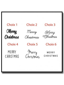 Merry Christmas 301 - Tampon pour pâtes à sucre et sablés sur le thème Noël
