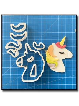 Licorne 101 - Emporte-pièce en Kit pour pâtes à sucre et sablés sur le thème Licorne