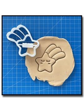 Etoile filante 001 - Emporte-pièce pour pâtes à sucre et sablés sur le thème Compte de fée
