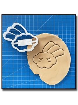 Nuage filant 001  - Emporte-pièce pour pâtes à sucre et sablés sur le thème Compte de fée
