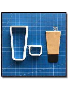 Fond de teint 101 - Emporte-pièce en Kit pour pâtes à sucre et sablés sur le thème Maquillage et Cosmetique