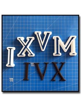 Chiffre Romains 101 - Emporte-pièce en Kit pour pâtes à sucre et sablés sur le thème Alphabet & Nombre