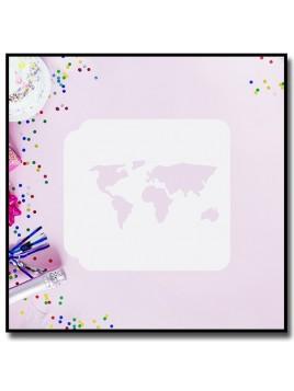 Carte du monde 901 - Pochoir pour pâtes à sucre et sablés sur le thème Voyage