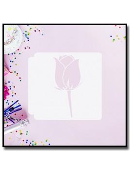 Rose 902 - Pochoir pour pâtes à sucre et sablés sur le thème Fleurs & Plantes