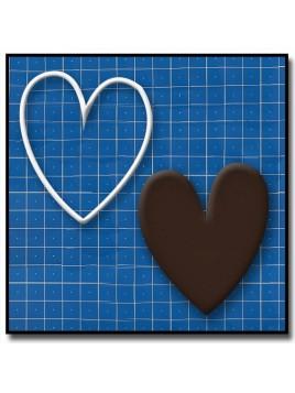 Coeur 202 - Emporte-pièce pour pâtes à sucre et sablés sur le thème Amour