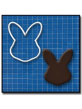 Lapin Visage 201 - Emporte-pièce pour pâtes à sucre et sablés sur le thème Pâques / Printemps