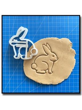 Lapin 001 - Emporte-pièce pour pâtes à sucre et sablés sur le thème Pâques / Printemps