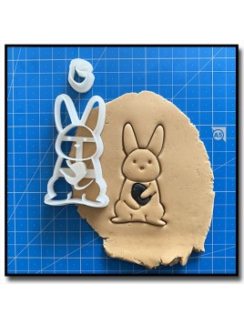 Lapin 002 - Emporte-pièce pour pâtes à sucre et sablés sur le thème Pâques / Printemps