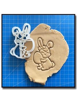Lapin 003 - Emporte-pièce pour pâtes à sucre et sablés sur le thème Pâques / Printemps