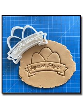 Joyeuses Pâques 001 - Emporte-pièce pour pâtes à sucre et sablés sur le thème Pâques / Printemps