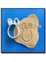 Oeuf de Pâques 001 - Emporte-pièce pour pâtes à sucre et sablés sur le thème Pâques / Printemps