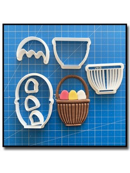 Panier d'Oeuf de Pâques 101 - Emporte-pièce en Kit pour pâtes à sucre et sablés sur le thème Pâques / Printemps