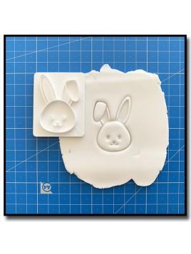 Lapin 301 - Tampon pour pâtes à sucre et sablés sur le thème Pâques / Printemps
