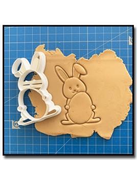 Lapin 004 - Emporte-pièce pour pâtes à sucre et sablés sur le thème Pâques / Printemps