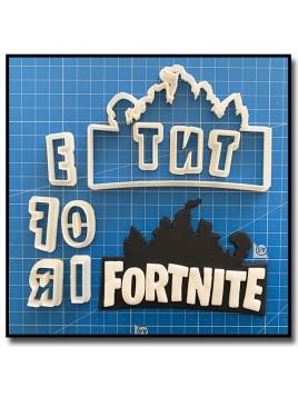 Fortnite Logo 101 - Emporte-pièce en Kit pour pâtes à sucre et sablés sur le thème Jeux Vidéos