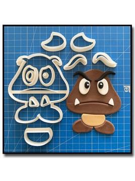 Goomba 101 - Emporte-pièce en Kit pour pâtes à sucre et sablés sur le thème Super Mario