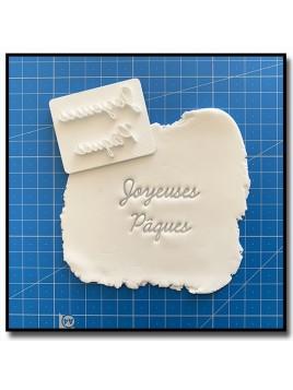 Joyeuses Pâques 301 - Tampon pour pâtes à sucre et sablés sur le thème Pâques / Printemps