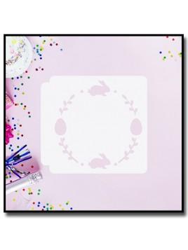 Bordure de Pâques 901 - Pochoir pour pâtes à sucre et sablés sur le thème Pâques / Printemps