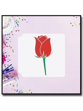 Rose 9902 - Pochoir pour pâtes à sucre et sablés sur le thème Fleurs & Plantes