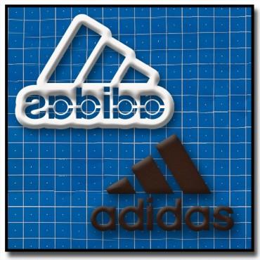 Adidas Logo 201 - Emporte-pièce pour pâtes à sucre et sablés sur le thème Sports