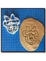 Minnie Visage 001 - Emporte-pièce pour pâtes à sucre et sablés sur le thème La bande de Mickey